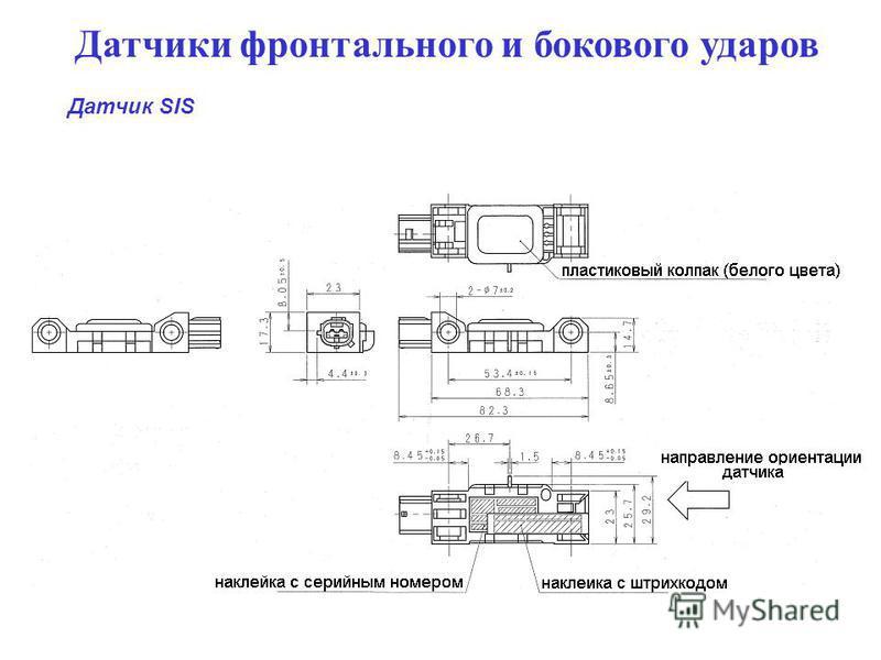 Датчики фронтального и бокового ударов Датчик SIS