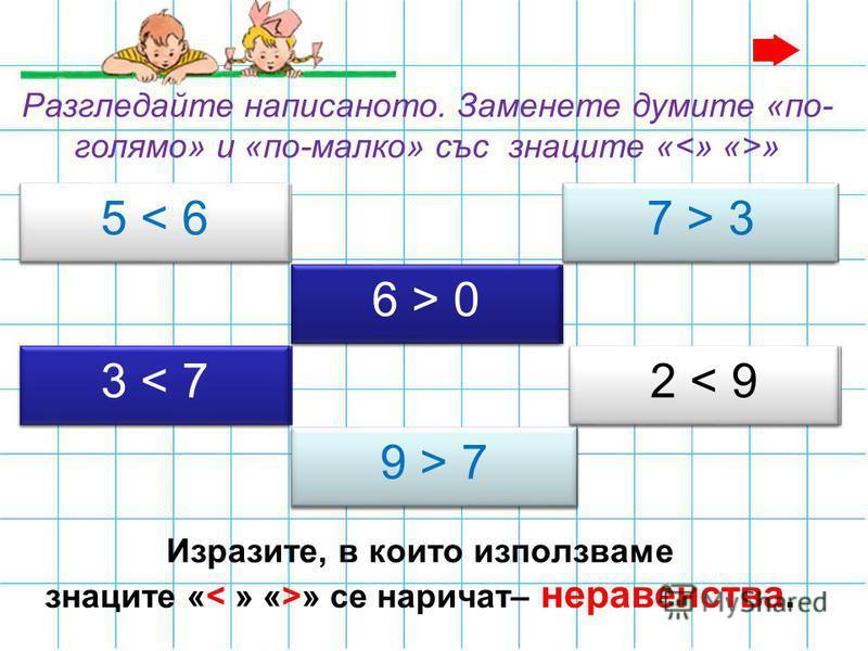 Разгледайте числовия лъч. 012345678910 < > Запомни: Колкото числото е по-близо до нулата, толкова то е по-малко. Съответно, колкото по-далеч е от 0, толкова е по-голямо.