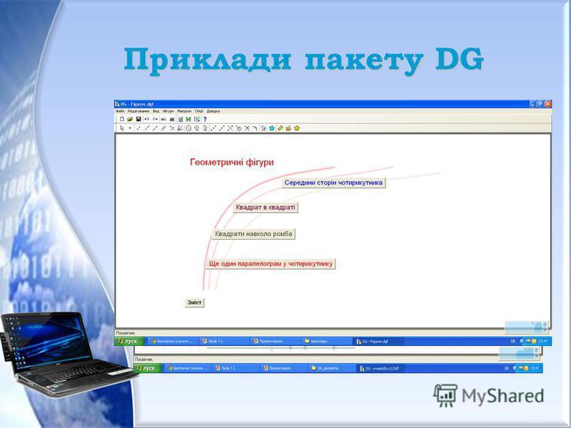 Приклади пакету DG