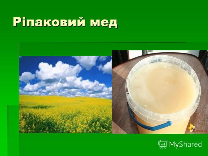 Ріпаковий мед