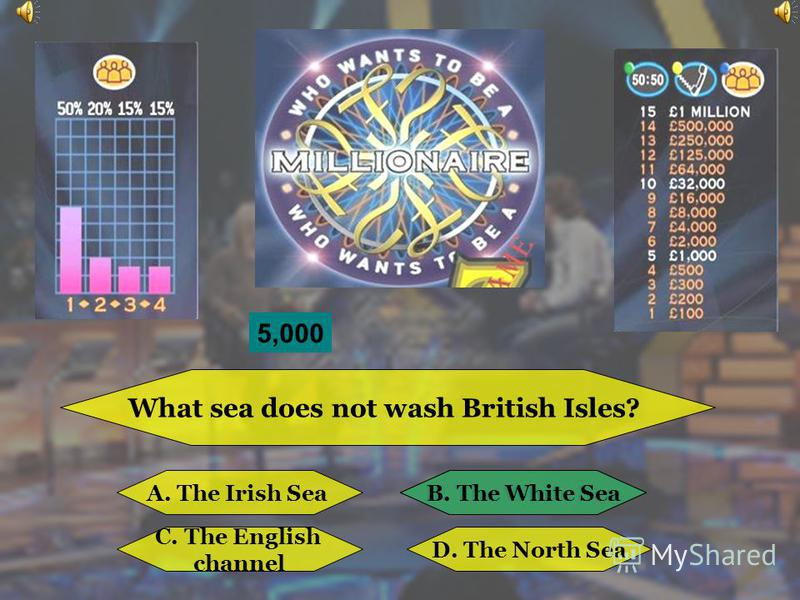 What country is not situated on the British Isles? A. EnglandB. Australia C. IrelandD. Wales B. Australia 4,500