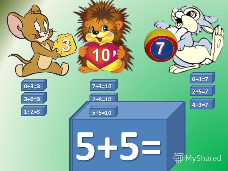 2+8=10 6+1=7 6+1= 0+3=3 0+3= 3+0= 3+0=3 7+3= 7+3=10 2+5= 2+5=7 4+3= 4+3=7 2+8= 1+2= 1+2=3 5+5= 5+5=10
