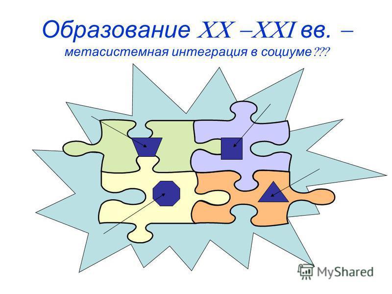 Образование вв. мета системная интеграция в социуме