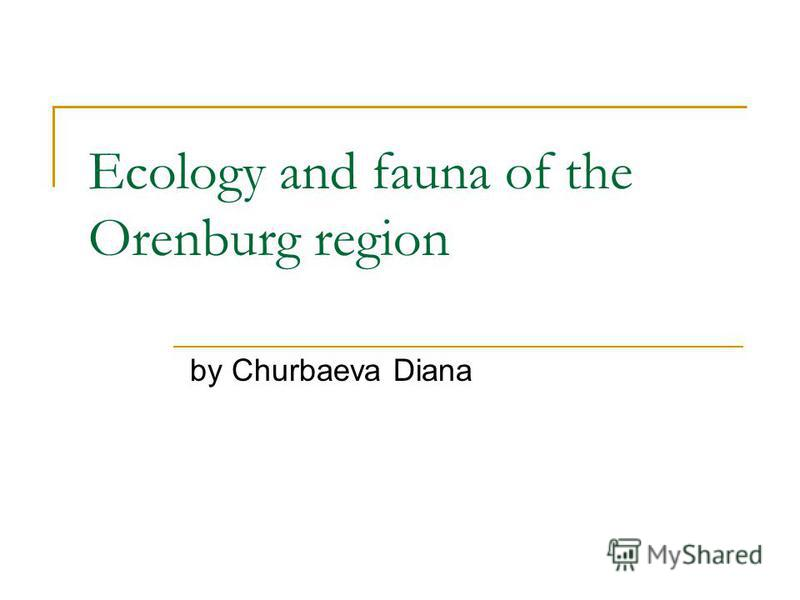 Ecology and fauna of the Orenburg region by Churbaeva Diana
