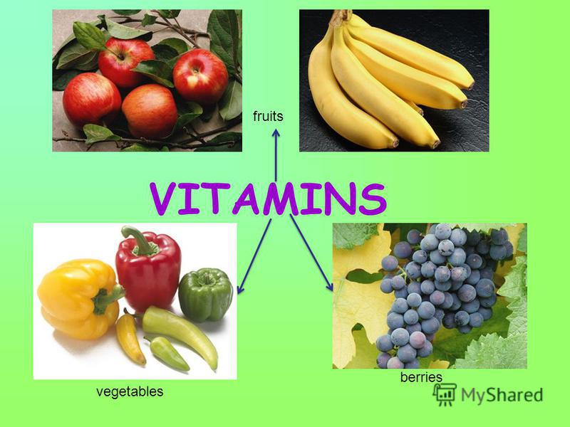 VITAMINS fruits vegetables berries