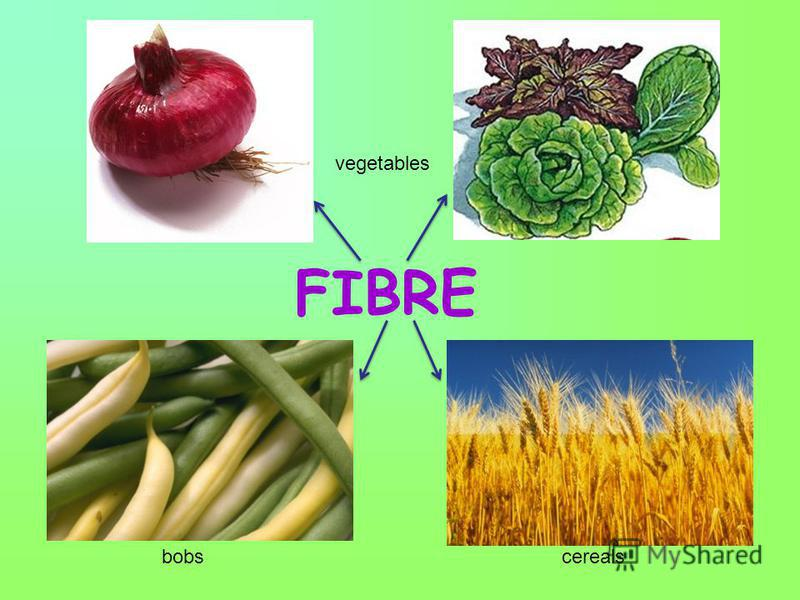 FIBRE vegetables bobscereals