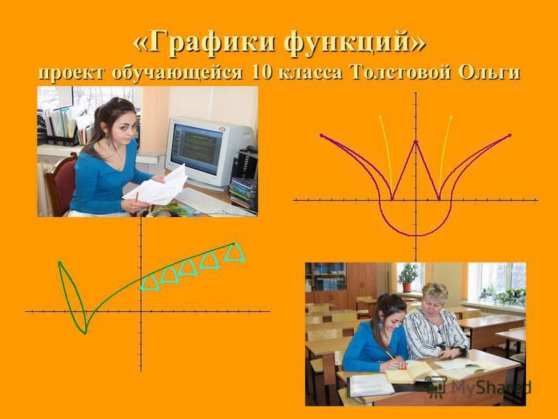 «Графики функций» проект обучающейся 10 класса Толстовой Ольги