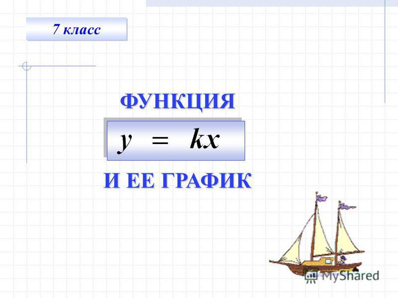 ФУНКЦИЯ И ЕЕ ГРАФИК 7 класс