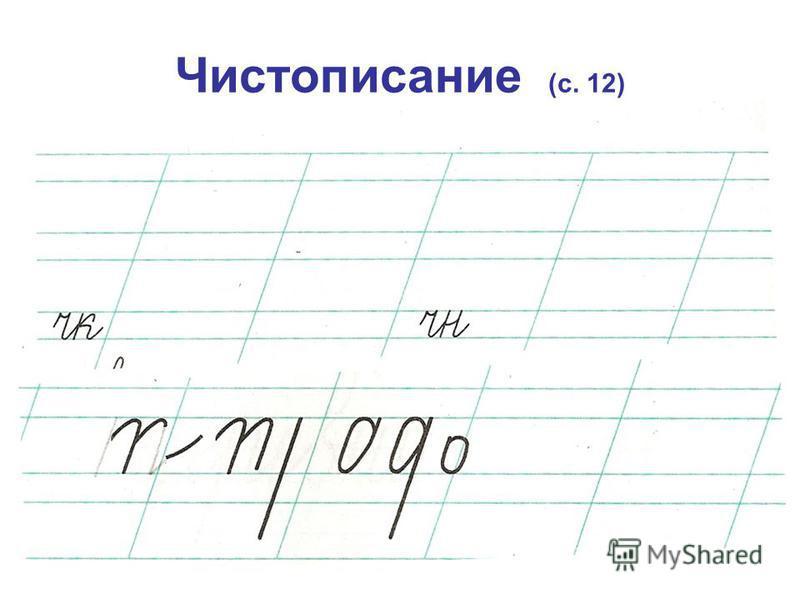 Чистописание (с. 12)
