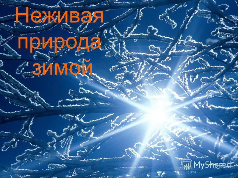 Неживая природа зимой