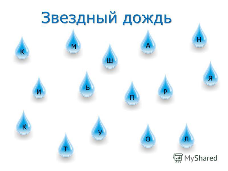 Звездный дождь К М Ш А Н И Ь П Р Я К Т У ОЛ