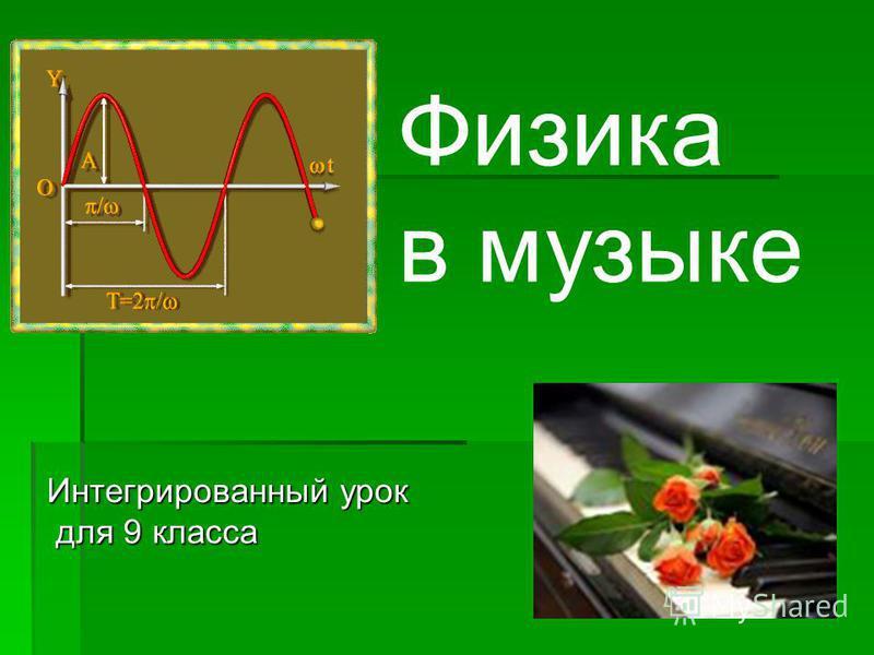 Физика в музыке Интегрированный урок для 9 класса для 9 класса