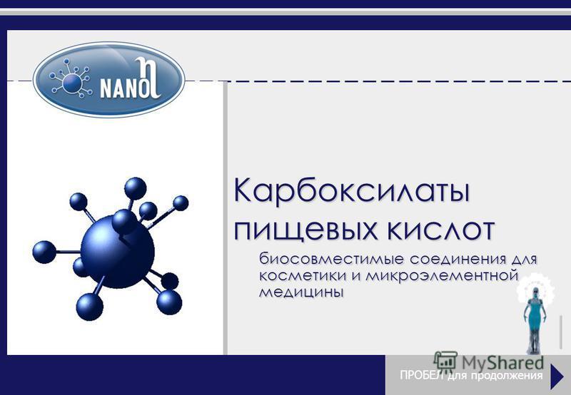 Карбоксилаты пищевых кислот биосовместимые соединения для косметики и микроэлементной медицины