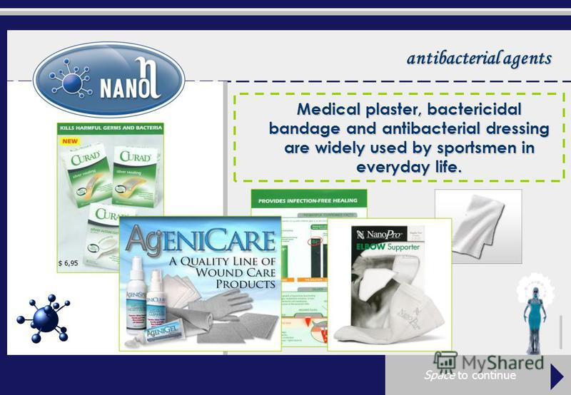 antibacterial agents Medical plaster, bactericidal bandage and antibacterial dressing are widely used by sportsmen in everyday life. $ 6,95 $ 29,99 Space to continue