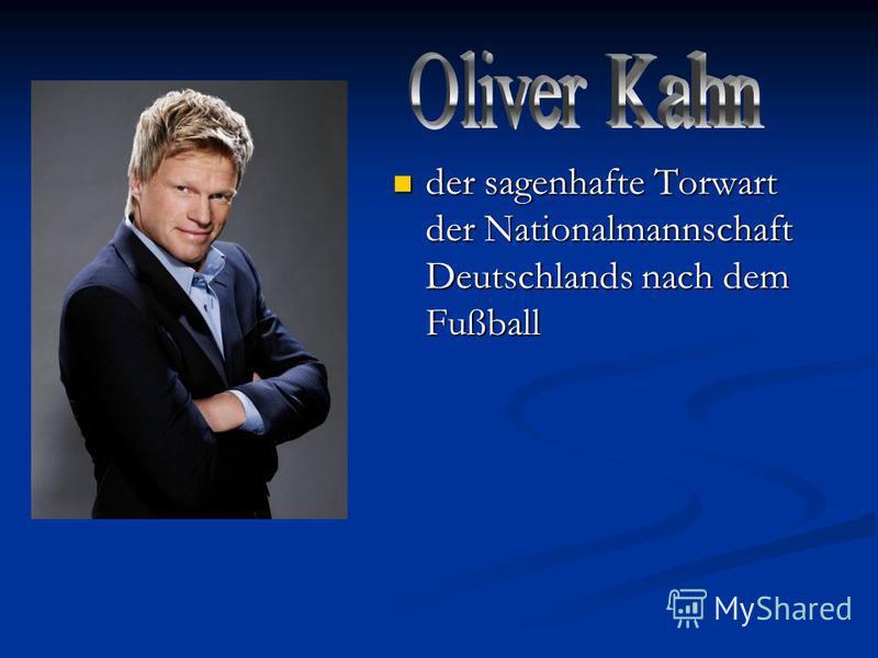 der sagenhafte Torwart der Nationalmannschaft Deutschlands nach dem Fußball der sagenhafte Torwart der Nationalmannschaft Deutschlands nach dem Fußball