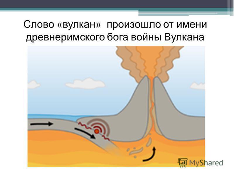 Слово «вулкан» произошло от имени древнеримского бога войны Вулкана