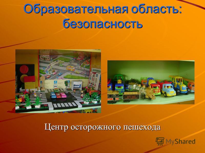 Образовательная область: безопасность Центр осторожного пешехода