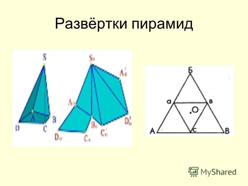 Развёртки пирамид