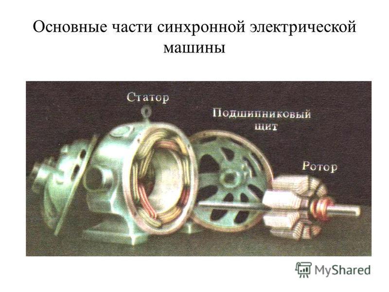 Основные части синхронной электрической машины