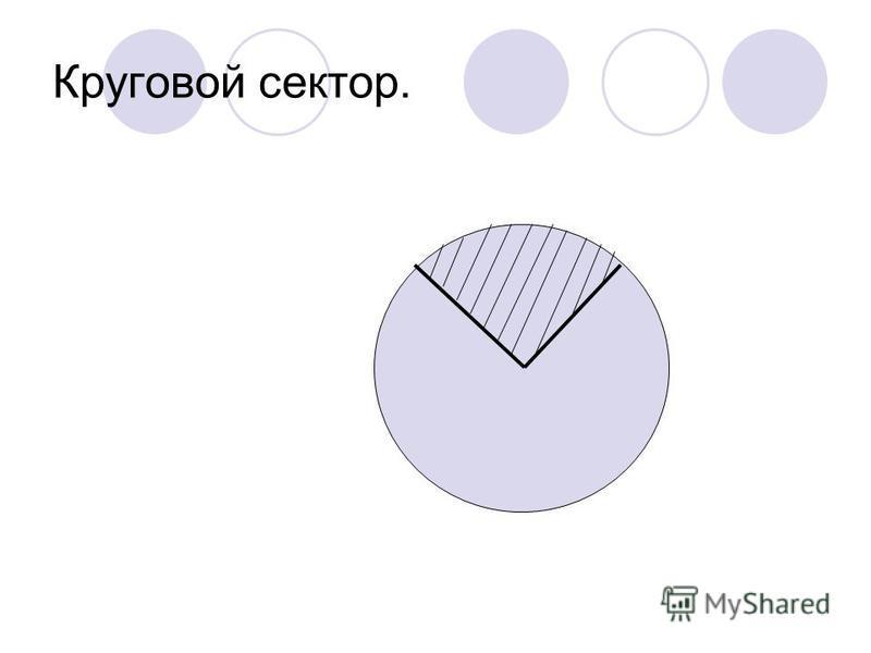 Круговой сектор.