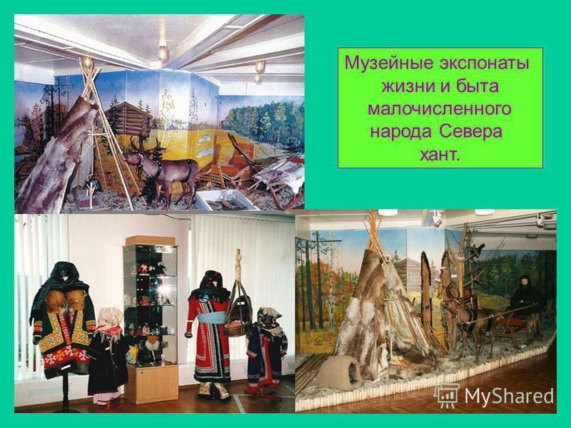 Музейные экспонаты жизни и быта малочисленного народа Севера хант.