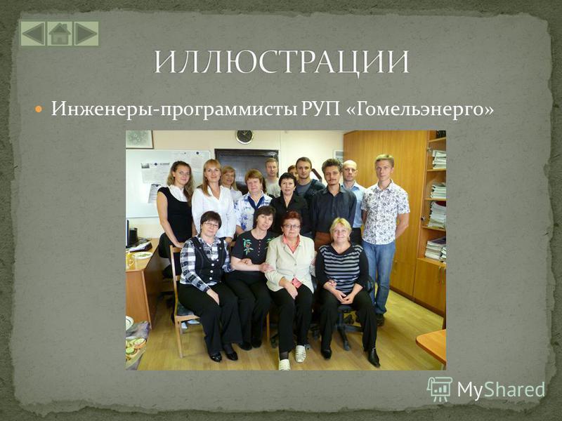 Инженеры-программисты РУП «Гомельэнерго»