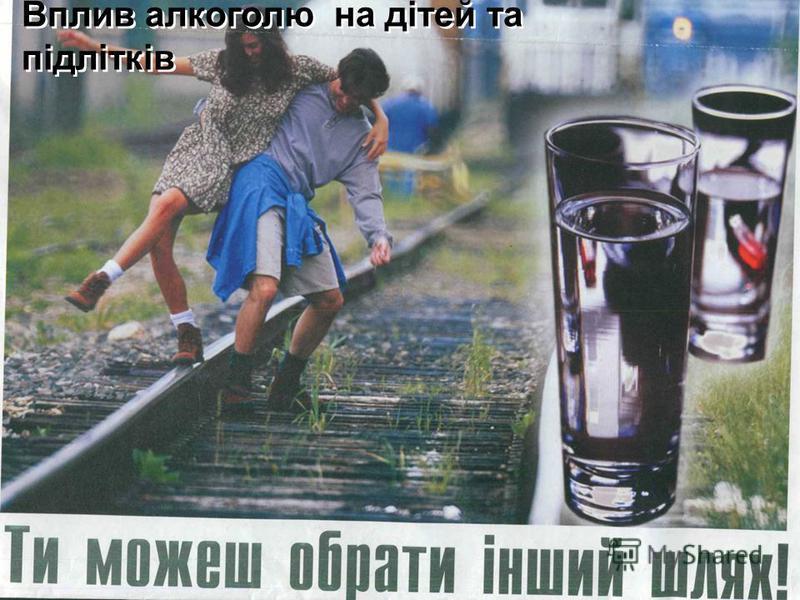 Вплив алкоголю на дітей та підлітків Вплив алкоголю на дітей та підлітків
