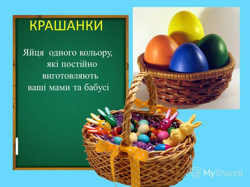 КРАШАНКИ Яйця одного кольору, які постійно виготовляють ваші мами та бабусі