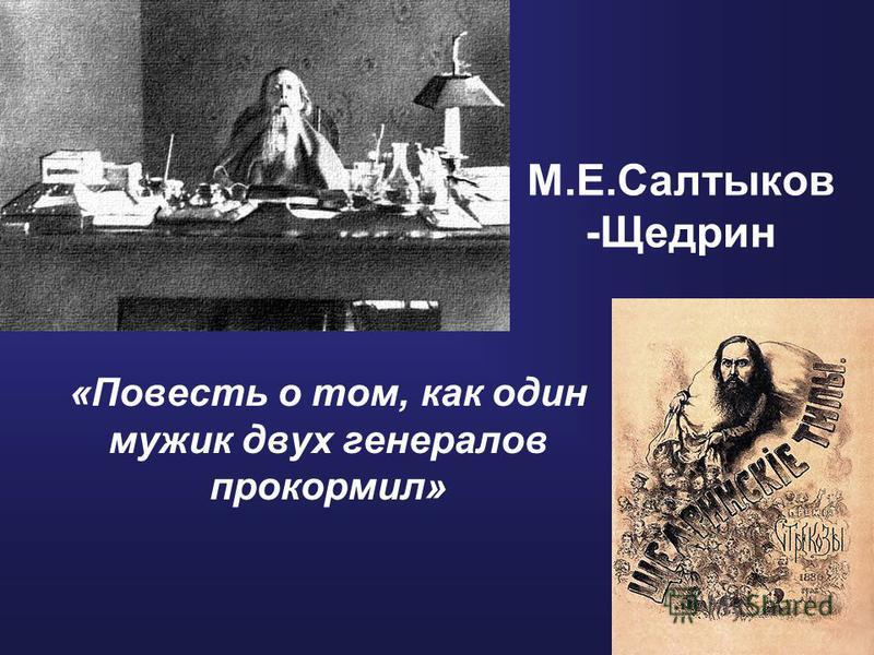 М.Е.Салтыков -Щедрин «Повесть о том, как один мужик двух генералов прокормил»