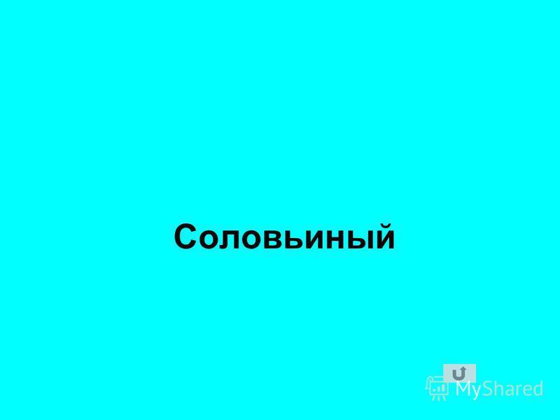 Соловьиный