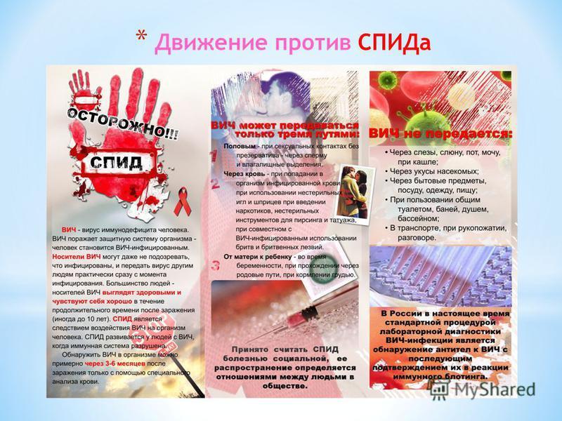 * Движение против СПИДа