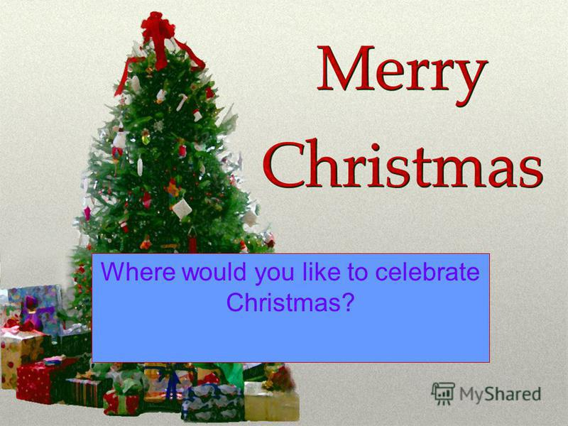 Where would you like to celebrate Christmas?