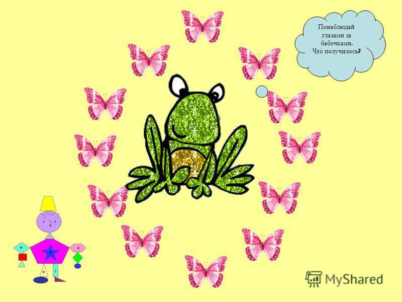 Понаблюдай глазами за бабочками. Что получилось ?