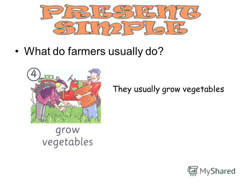 What do farmers usually do? They usually grow vegetables