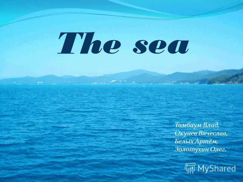 The sea Тамбаум Влад, Окунев Вячеслав, Белых Артём, Золотухин Олег.