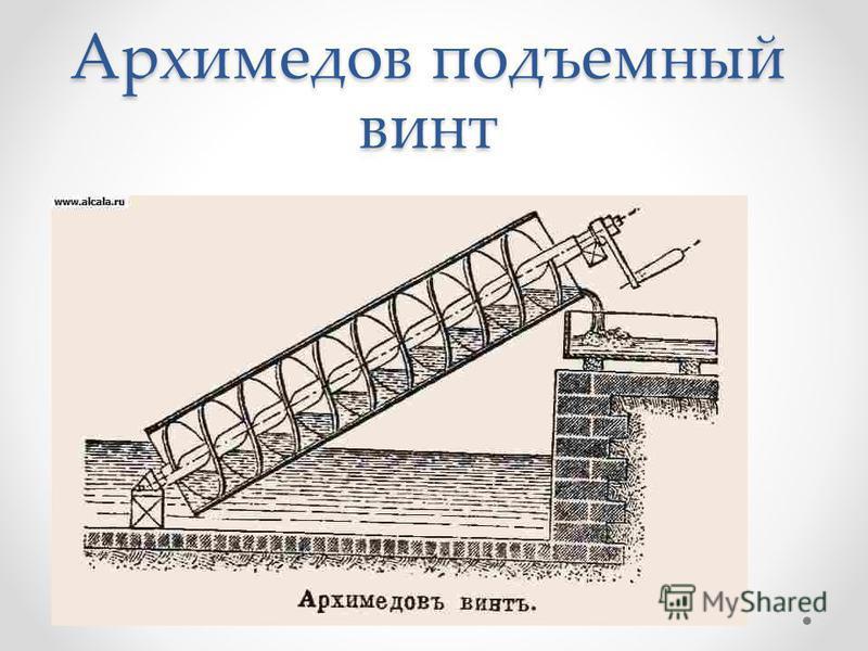 Архимедов подъемный винт