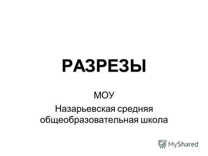 РАЗРЕЗЫ МОУ Назарьевская средняя общеобразовательная школа
