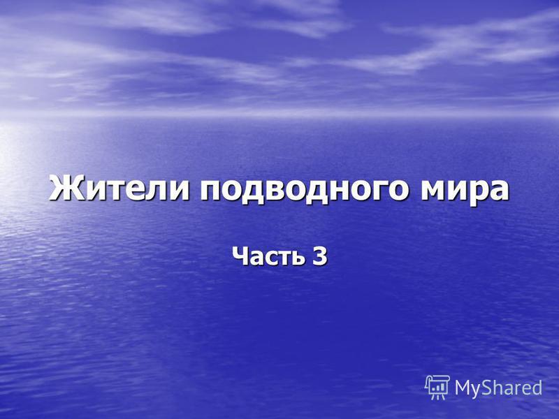 Жители подводного мира Часть 3