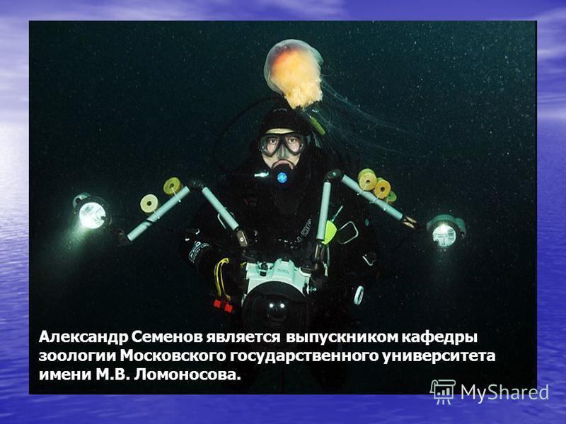 Александр Семенов является выпускником кафедры зоологии Московского государственного университета имени М.В. Ломоносова.