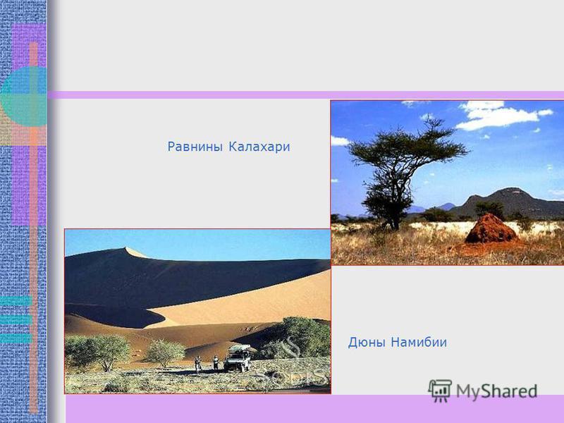 Дюны Намибии Равнины Калахари