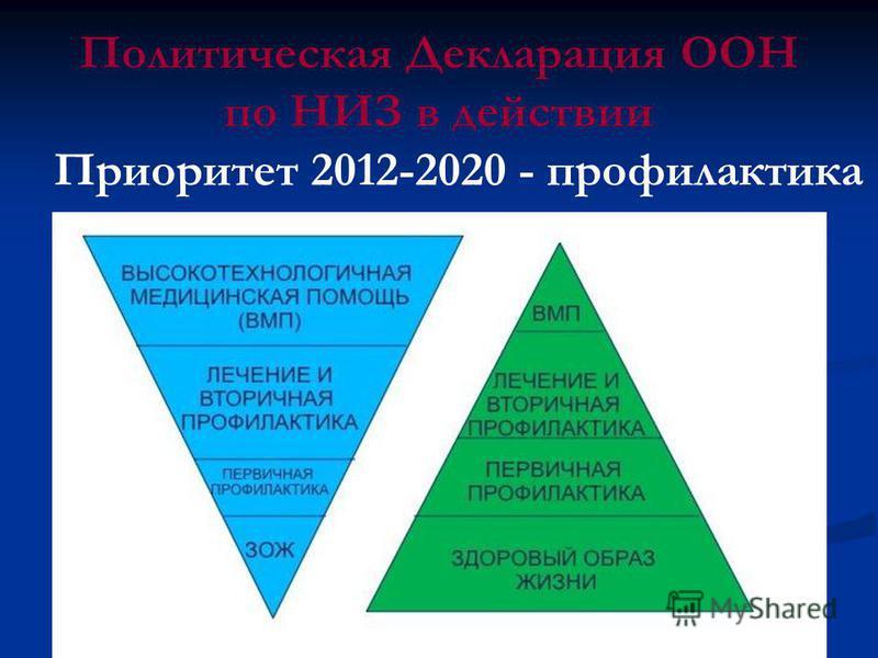 Политическая Декларация ООН по НИЗ в действии Приоритет 2012-2020 - профилактика