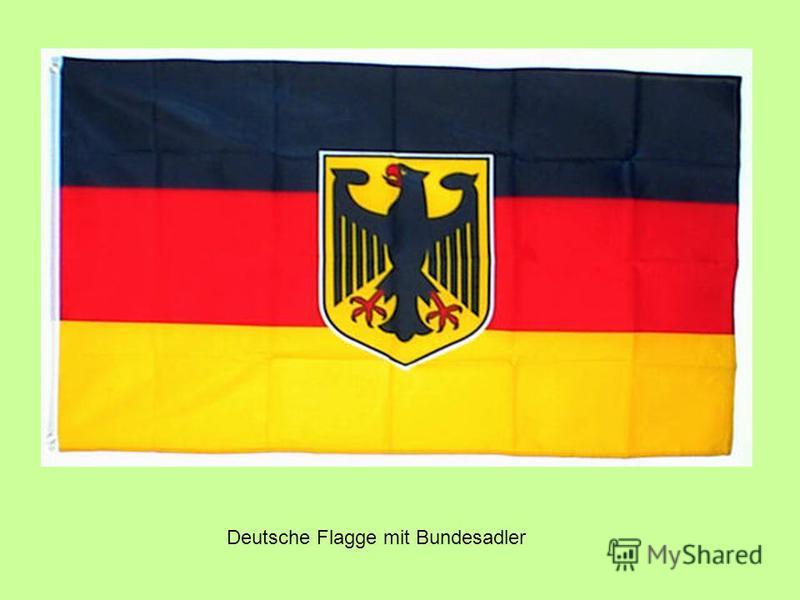 Deutsche Flagge mit Bundesadler