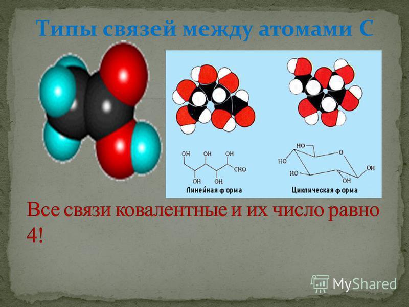 Типы связей между атомами С
