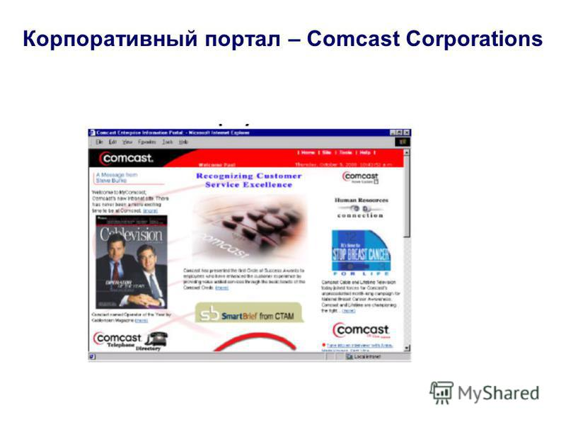 Корпоративный портал – Comcast Corporations