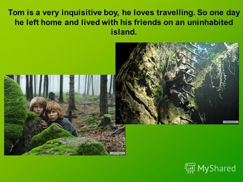 Tom is a very inquisitive boy, he loves travelling. So one day he left home and lived with his friends on an uninhabited island.