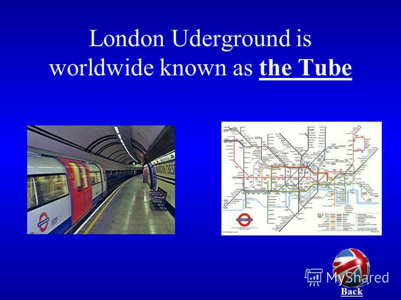 London Uderground is worldwide known as the Tube Back