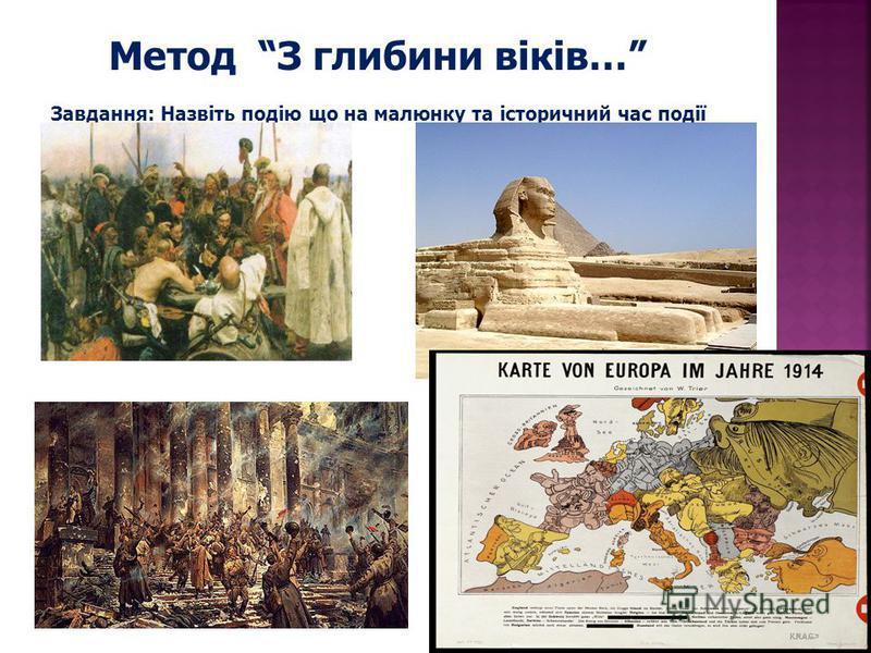 Метод З глибини віків… Завдання: Назвіть подію що на малюнку та історичний час події