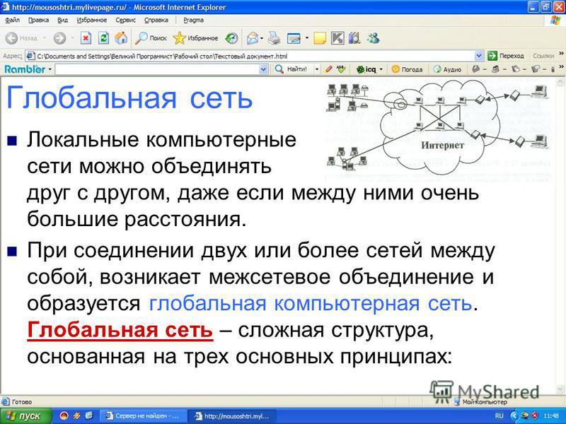 Что такое Интернет? Интернет - совокупность сетей (гиперсеть, мега сеть, сеть сетей).