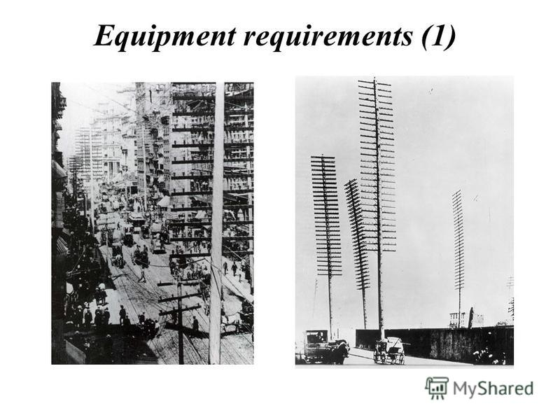 Equipment requirements (1)