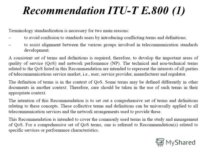 Recommendation ITU-T E.800 (1)